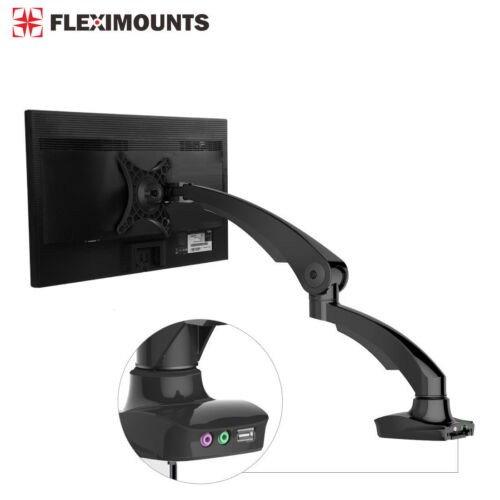 Black LCD Arm Desktop Monitor Mount Computer Stand for 10-24 Screen up to 5 lbs