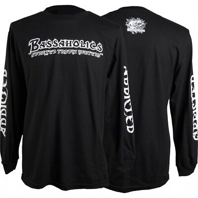 "BASSAHOLICS APPAREL  Long Sleeve T-Shirt - ""Addicted Trophy Hunter"" - Black"