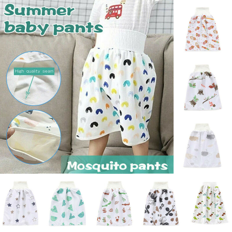 как выглядит Comfy Childrens Diaper Skirt Shorts 2 in 1 Waterproof and Absorbent Shorts M/L фото