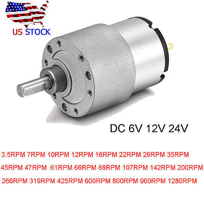Dc 24v12v6v Shaft Electric Gear Box Motor Speed Centric Reduction Controller
