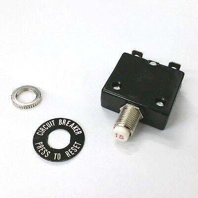 15 Amp Pushbutton Circuit Breaker Joemex Pe7415 15a