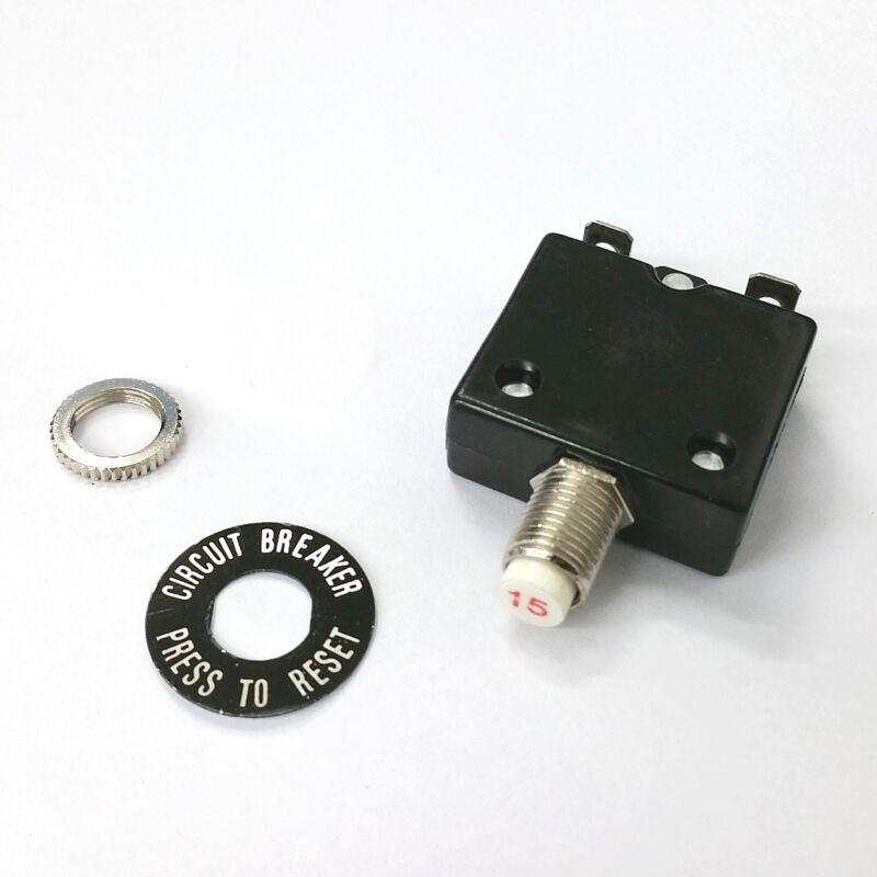 NEW 15 Amp Pushbutton Circuit Breaker ~ Joemex PE7415 15A