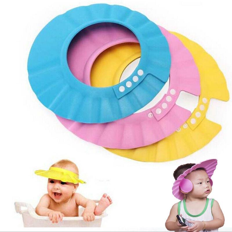 Baby Kids Child Shower Cap Waterproof Ear Protect Hat Adjustable Cap Boys&Girls