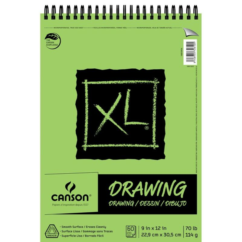 """Canson XL Series Drawing Pads - 9x12""""  - 9X12"""""""