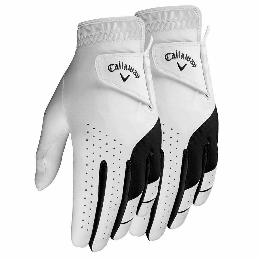 NEW 2021 Callaway 2-Pack Weather Spann Men's Golf Gloves **2-3 Day Free Ship**