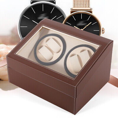4+6 Automatic Rotation Leather Motor Watch Winder Storage Display Case Box SALE