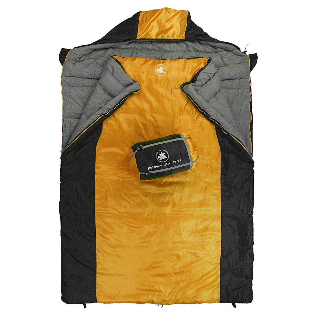 10T Selawik Duo 150L - Sacco a pelo a coperta matrimoniale 215x150 cm con cuscin