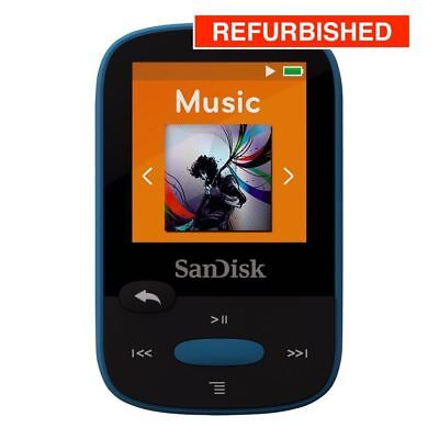 SanDisk Clip Sport Sansa MP3 Player 8GB - In BLUE - REFURBISHED & GUARANTEED