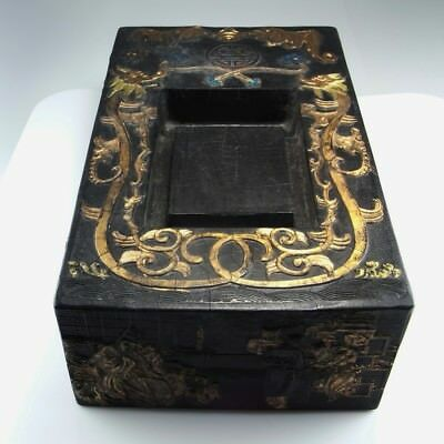 IMPERIAL Chinese Ink Block Cake Black Calligraphy Antique Chinese Ming Qing Dy