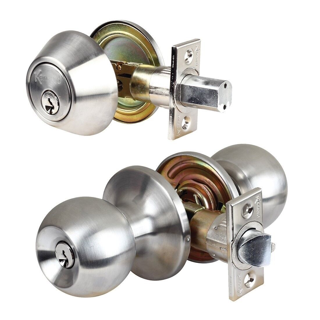 Ferum Ultra Ball Knob Entrance Door Lock US32D Stainless Steel 44233 5346us32dkd