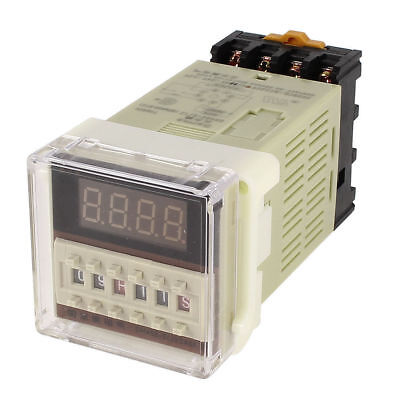 Us Stock Dc 12v Digital Precision Programmable Time Delay Relay Dh48s-s Base
