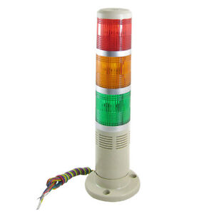 Industrial DC 12V Red Yellow Green Tower Lamp Indicator Light with Buzzer Siren
