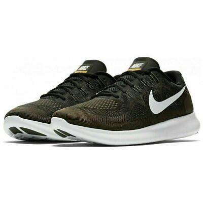 Nike Free RN 2017 Running Shoes Black Cargo Khaki Green 880839-008 Men's NEW