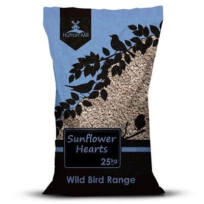WILD BIRD SUNFLOWER HEARTS 25KG Quality Sunflower Hearts by Hutton Mill (HMI014)
