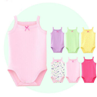 Baby Girls Sleeveless Tank Top Cotton Baby Bodysuit Pack of Summer Clothes Out](Girls Out Of Clothes)