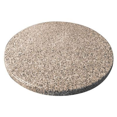 Bolero Pre-Drilled Round 600Mm Table Top Granite Effect Dining Furniture