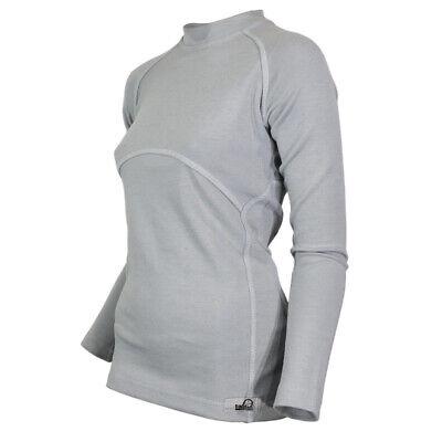 Wolle-unterwäsche Langarm (Merino Wolle Unterwäsche Base Layer Damen Top Langarmshirt Grau)