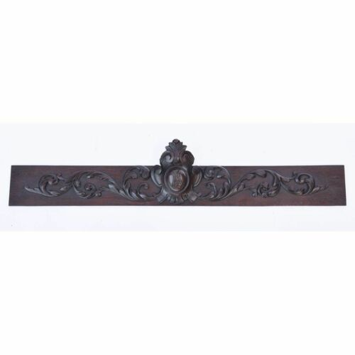 Antique French Carved Oak Wood Architectural Salvaged Hunt / Louis XIII Panel