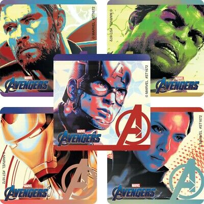 20 Avengers Endgame STICKERS Party Favors Supplies Birthday Treat Loot Bags - Avenger Party Favors