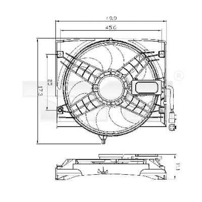 Ventilador Enfriador Del Radiador Refrigerador Eléctrico TYC (803-0011)