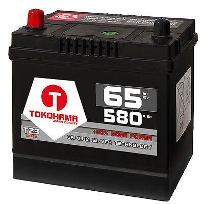 Autobatterie 65Ah 580A/EN Asia Japan Starter Batterie Plus Pol Links statt 60Ah