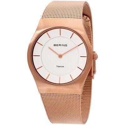Bering Classic Quartz Movement White Dial Ladies Watch 11935-366