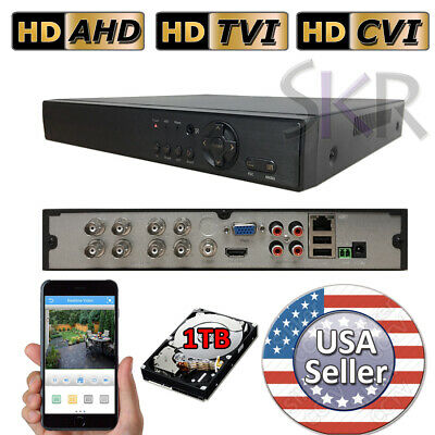 Sikker 8 Ch Channel DVR Security Camera System 1080P HDMI