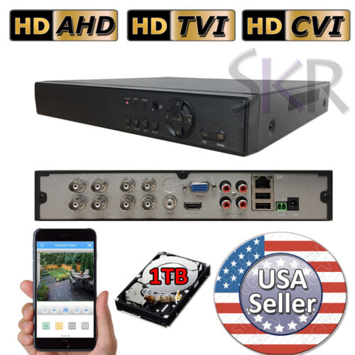 Sikker 8 Ch Channel DVR Security Camera System 1080P HDMI with 1TB hard drive