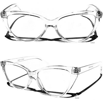 Transparent Frame Cat Eye Glasses Retro Fashion Vintage Design Style Clear Lens