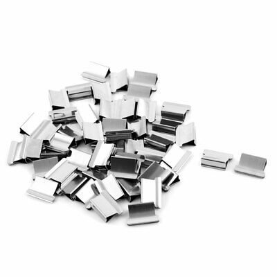 Office Metal Paper Fastener Binding Clam Stapler Clip Dispenser 51 Pcs