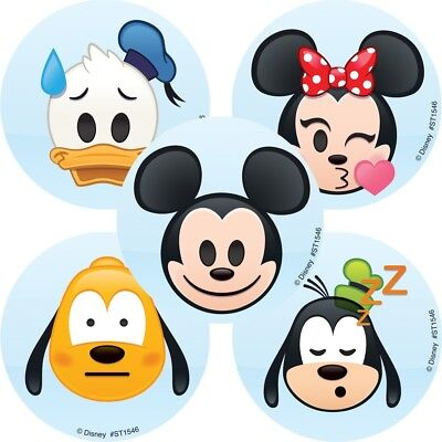 25 Disney Mickey Mouse Emoji Stickers Party Favors Teacher Supply Goofy - Mickey Mouse Party Supply
