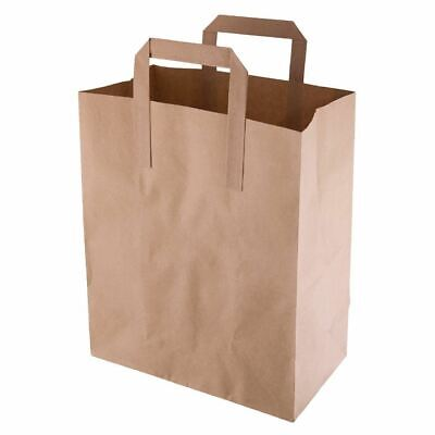 Fiesta Green Recycled Paper Carrier Bags in Brown - Medium - Pack Quantity - 250