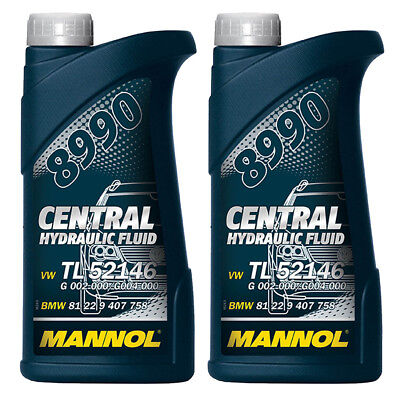 1 (2x0,5) Liter Servoöl Mannol Hydrauliköl ATF-A PSF Hydraulic Fluid VW TL52146