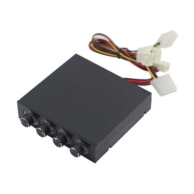 Computer Chassis Fan Speed LED 4-Way CPU Fan PWM Control Governor 3/4pin Fan Control Fan Speed Computer
