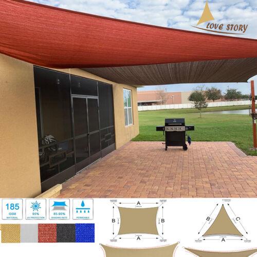 Sun Shade Sail Canopy UV Block Awning for Outdoor Patio Garden Backyard