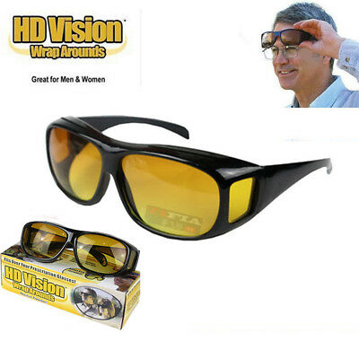 Unisex As Seen on TV HD Wrap Around Night Vision Driving Aviator Glasses (As Seen On Tv Aviator Sunglasses)