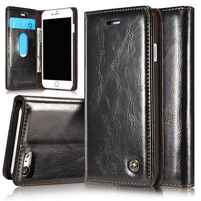 Leder-Imitat Wallet Case Schutz Hülle Bumper Tasche für Apple iPhone 8 4,7