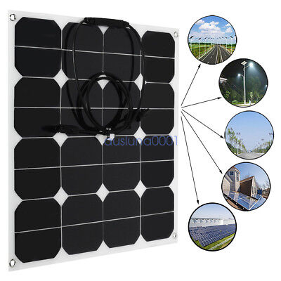 50W 12V Solar Panel Charger Solar Cell Flexible with MC4 Connector for RV Boat