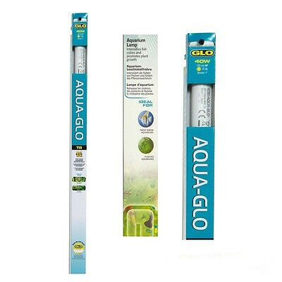 Hagen aqua glo t8 fluorescent light bulb tube fish tank for Ballast aquarium t8