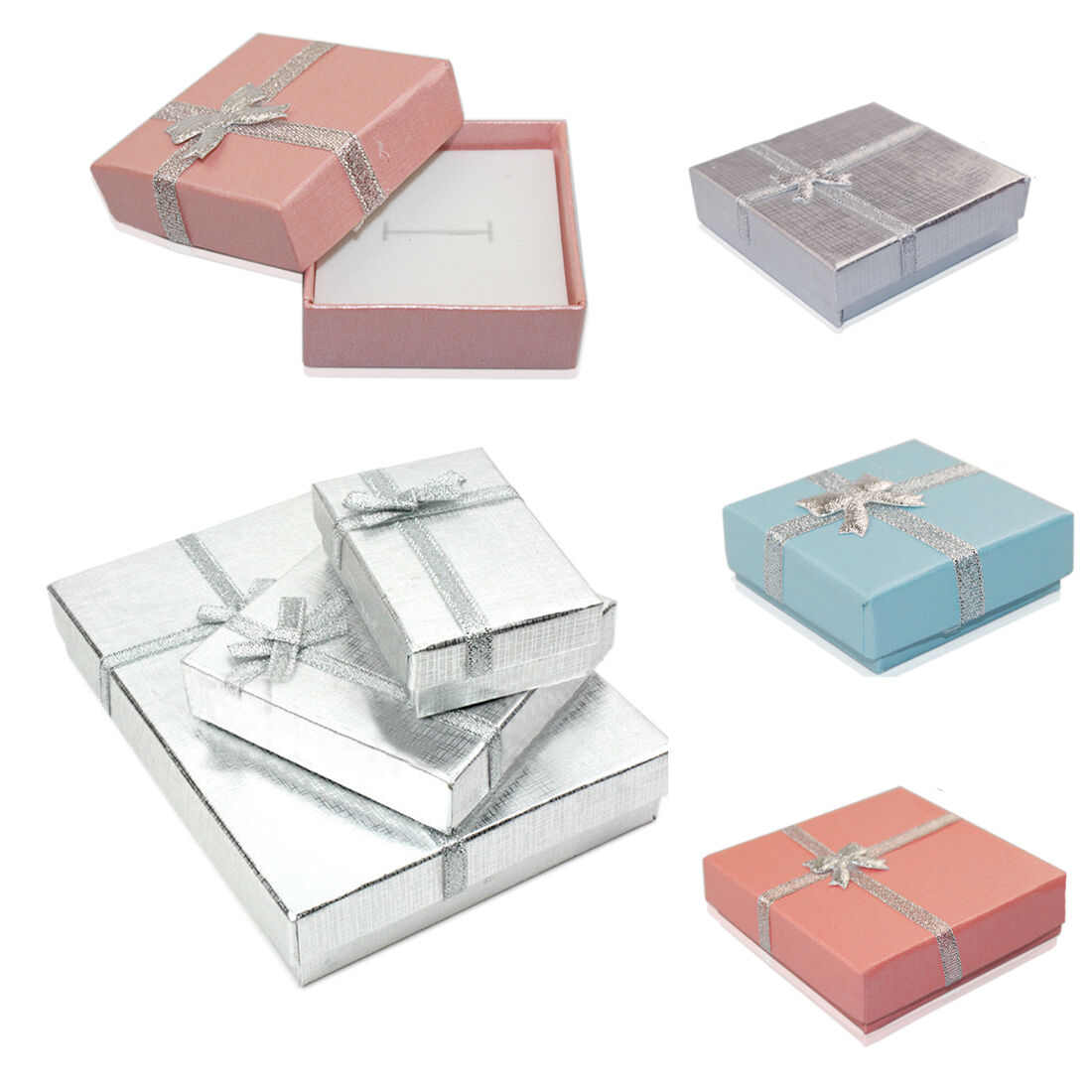 Jewellery - 6/12x High Quality Jewellery Birthday Gift Boxes Bag Necklace Bracelet Ring UK