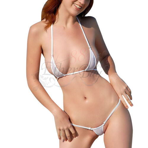 Sexy Ladies Micro Swimsuit Swimwear Mini Bandeau Thong