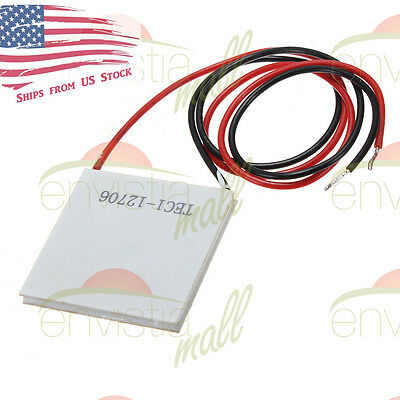 12v 60w Thermoelectric Cooler Tec Peltier Plate Module Tec1-12706 Us