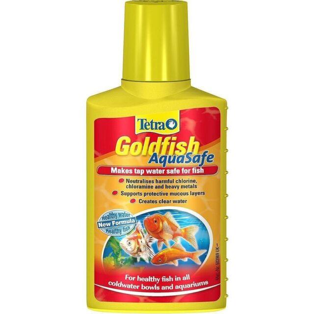 TETRA AQUARIUM GOLDFISH AQUASAFE TAP WATER SAFE CONDITIONER TREATMENT 100ML