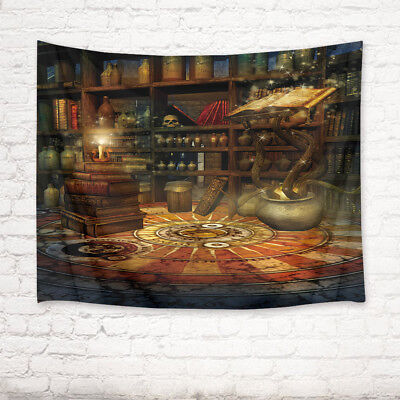 Halloween Magic Castle Tapestry Wall Hanging Thin Blanket Dorm/Bedroom Bedspread (Magic Castle Halloween)