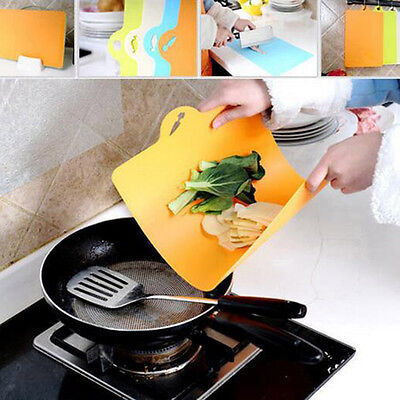 Kitchen Cooking Tools Flexible Plastic Cutting Board Food Cutting Chop Block
