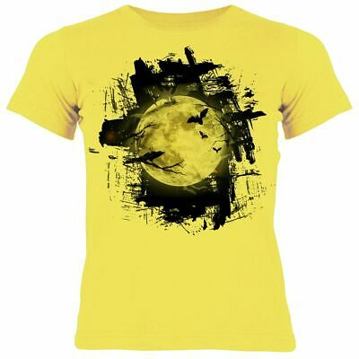 Halloween T-Shirt - Vollmond mit Fledermäusen - Kinder - Halloween Vollmond