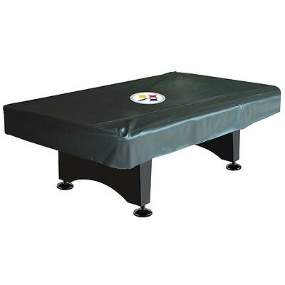 NFL Pittsburgh Steelers 8ft  Fitted Leatherette Pool Table Cover w/FREE Shipping ()