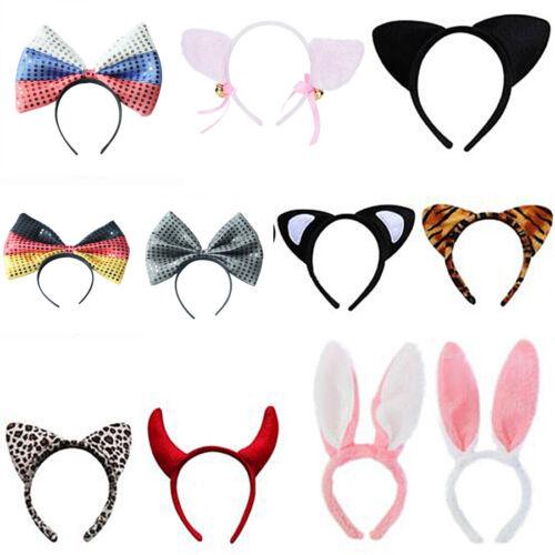 Haarreif Cosplay Bunny Katzenohren Hasenohren Rockabilly Stirnband Kostüm Party