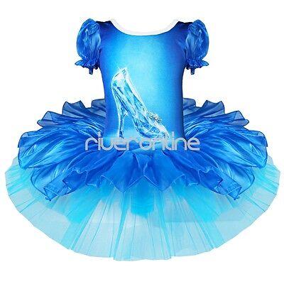 Mädchen Tanzkleid Ballett Kleid Prinzessin Kristallschuhe Muster Tanz Kostüm