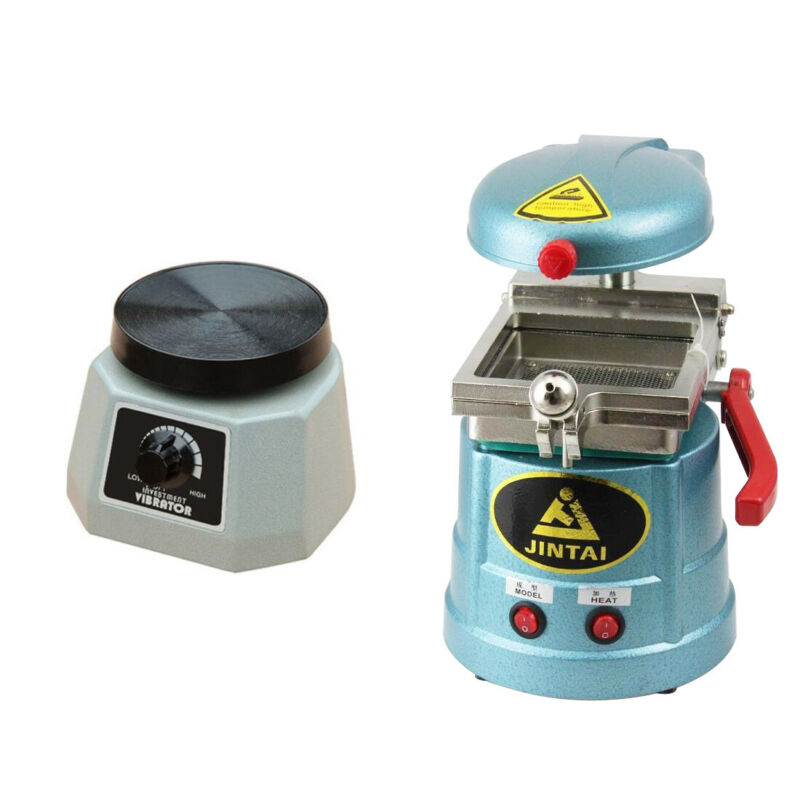 US Dental Vacuum Forming Heat Molding Machine Former+VIBRATOR Oscillator Round